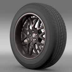 Dodge Vin Diesel Car wheel 3D Model