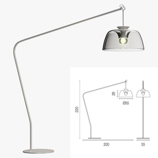Calligaris arpege floor lamp 3D Model
