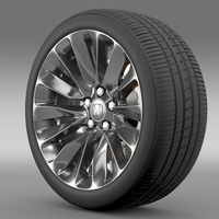 Honda Legend wheel 2015 3D Model