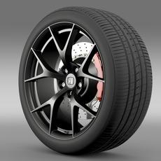 Honda NSX wheel 2015 3D Model