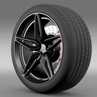 Mclaren 570S coupe wheel 2015 3D Model