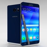 Samsung Galaxy Note 5 Black Sapphire 3D Model