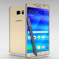 Samsung Galaxy Note 5 Gold Platinum 3D Model