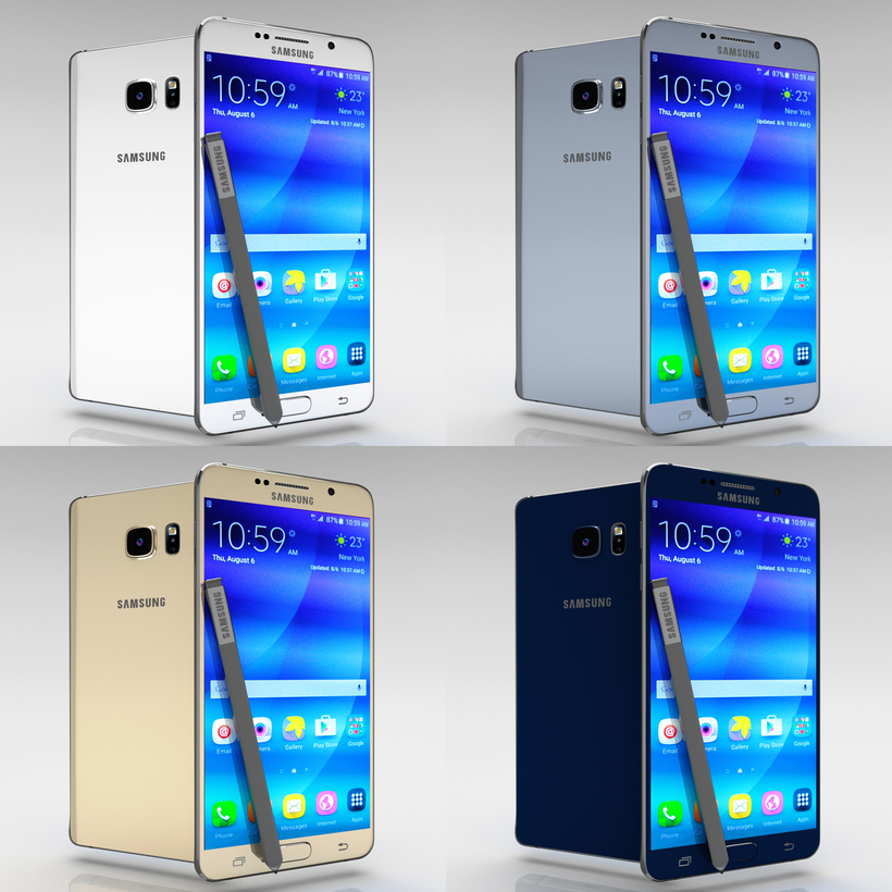 Samsung Galaxy Note 5 All Color Pack 3D Model