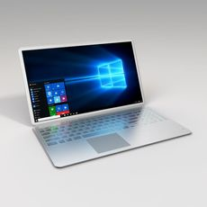 Metallic Laptop 3D Model
