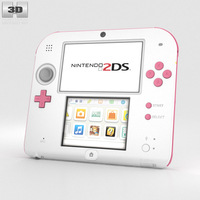 Nintendo 2DS Peach Pink 3D Model