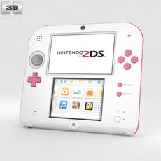 Nintendo 2DS Peach Pink 3D Model