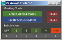 Free Arnold Tools for Maya 1.0.0 (maya script)