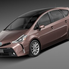 Toyota Prius V 2015 3D Model