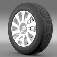 Opel Vivaro Van wheel 2015 3D Model