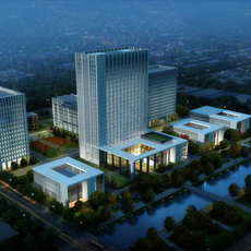Office buildings 038 3D Model