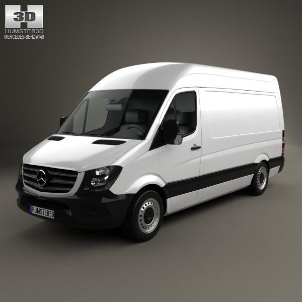 Mercedes-Benz Sprinter Panel Van SWB HR 2013 3D Model