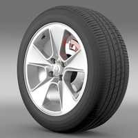 Renault Logan2 wheel 3D Model