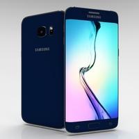 Samsung Galaxy S6 Edge+ Black Sapphire 3D Model