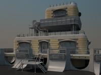 Sci-fi Building 1502 3D Model