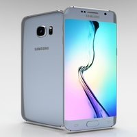 Samsung Galaxy S6 Edge+ Silver Titanium 3D Model