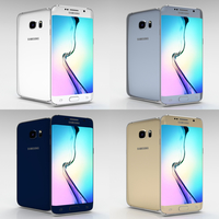 Samsung Galaxy S6 Edge Plus All Color Pack 3D Model