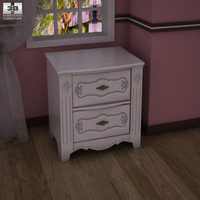 Ashley Exquisite Nightstand 3D Model