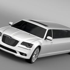Lancia Thema Limousine 3D Model