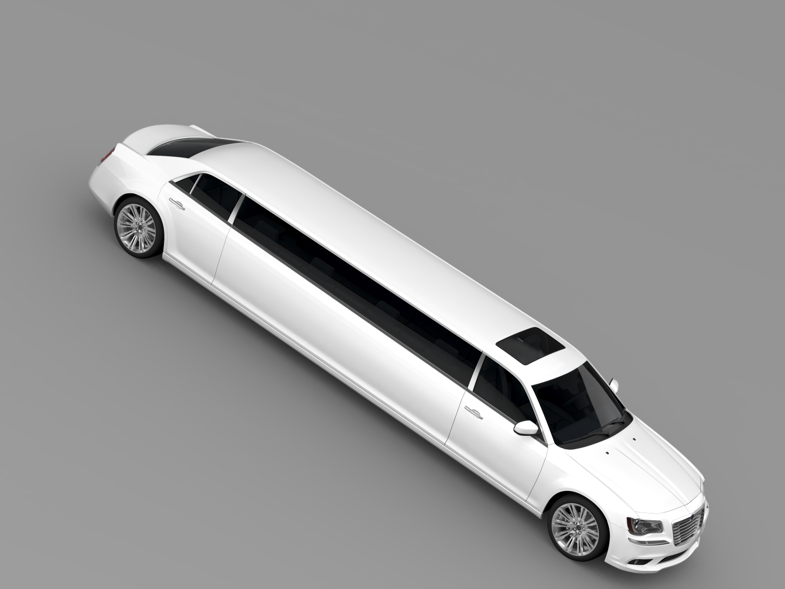 lancia thema limousine 3d model. Black Bedroom Furniture Sets. Home Design Ideas