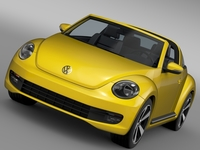 VW Beetle Targa 2016 3D Model