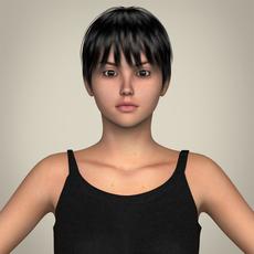Realistic Pretty Teen Girl 3D Model