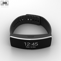 Samsung Gear Fit Black 3D Model