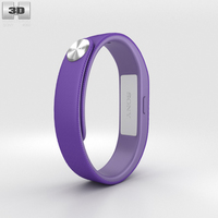 Sony Smart Band SWR10 Purple 3D Model