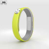 Sony Smart Band SWR10 Yellow 3D Model