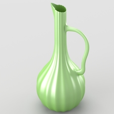 Shiny decorative jar 3D Model