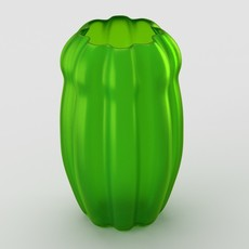 Decorative matte glass vase 3D Model