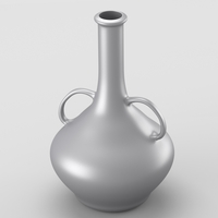 Decorative shiny silver jar 3D Model