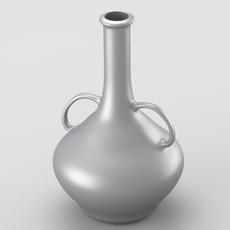 Decorative shiny silver jar 3D Model