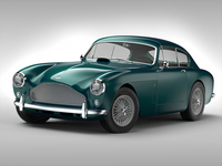 Aston Martin DB MKIII (1957-1959) 3D Model