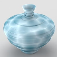 Decorative spotted vase 3D Model
