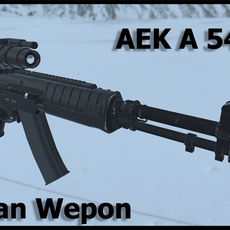 Russian modern weapon AEK A545 3D Model