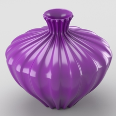 Shiny decorative vase 3D Model