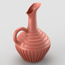 Decorative jar with handle 3D Model