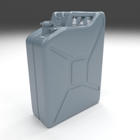 Jerry Can Blue 3D Model