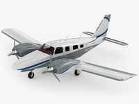 Piper PA-34 Seneca V 3D Model
