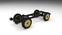 Jeep Willys Chassis 3D Model