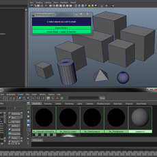 Create + Assign Materials to selection for Maya 1.0.1 (maya script)