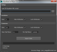 Free 3D Equalizer to Maya for Maya 1.2.0 (maya script)