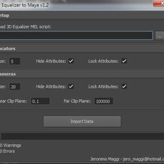 3D Equalizer to Maya for Maya 1.2.0 (maya script)