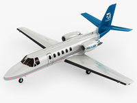 Cessna 550 Citation II 3D Model