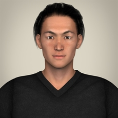 Realisitc Young Japanese Man 3D Model