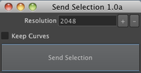 mkSendSelection 1.0.0 for Maya (maya script)