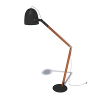 Butler's style stand lamp 3D Model