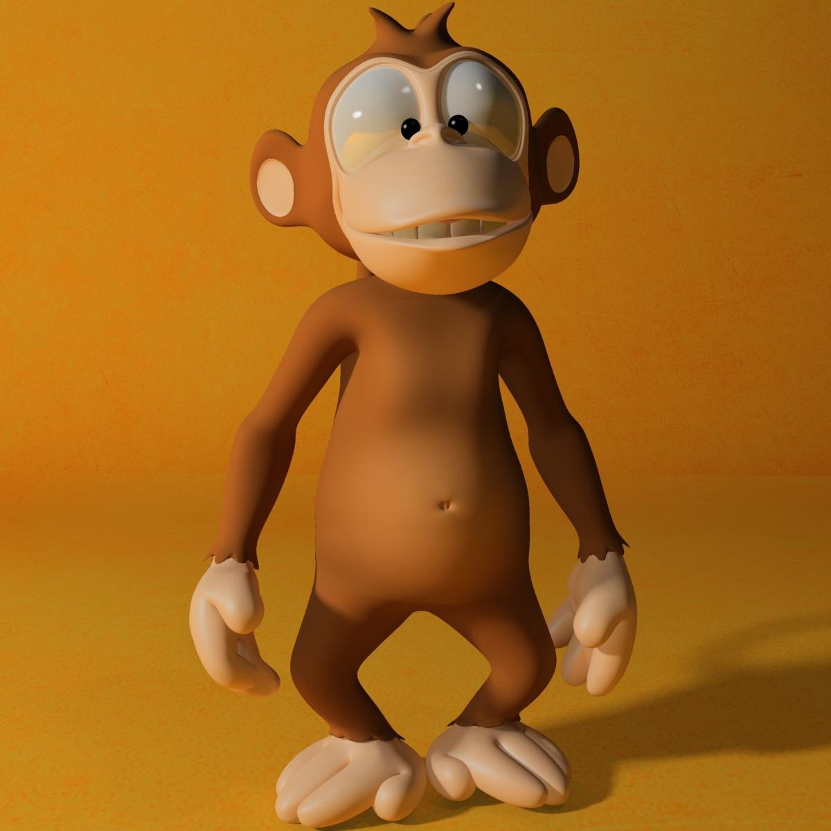 Cartoon monkey RIGGED 3D Model