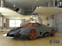 Lamborghini Egoista + Environment 3D Model